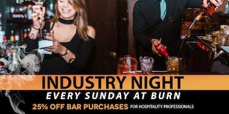 Industry Night at BURN tickets