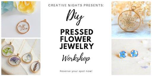 DIY Pressed Flower Jewelry Workshop - Creative Nights