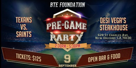 BTE Foundation's  Saints Monday Night Football Pre Party tickets
