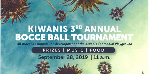 Kiwanis Bocce Ball Tournament 2019