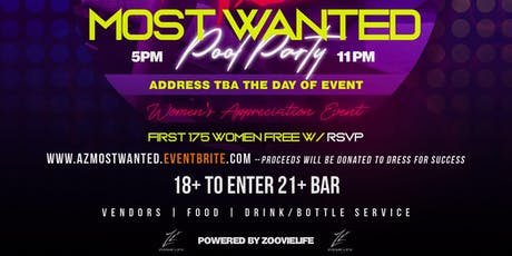 AZ MOST WANTED POOL PARTY tickets