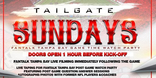 Tailgate Sundays T B. Buc Watch Party