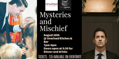 Mysteries and Mischief: Magic & Mentalism night at Unwined tickets