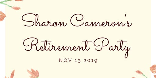 Sharon Cameron's Retirement Party