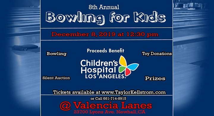 """8th Annual """" Bowling for Kids"""" Benefitting CHLA image"""