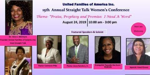 United Families of America Inc.15th Annual Straight Talk Women's Conference
