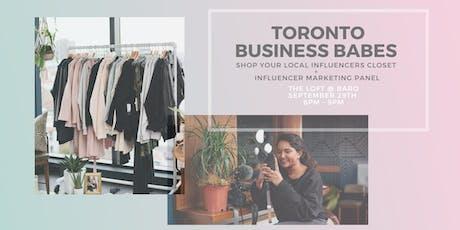 Toronto Business Babes Influencer Closet Shop! tickets