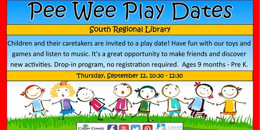 Pee Wee Play Dates for 9 Month Olds - Pre K at South Regional Library