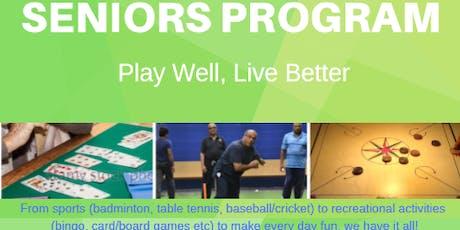 Seniors Program: Play Well, Live Better tickets