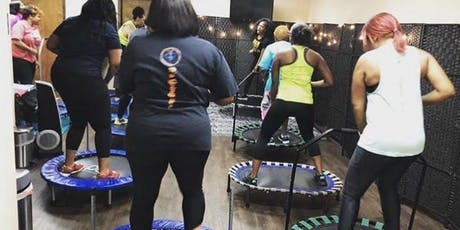 August Burn Baby by BURNS Rebounder Fitness Class  tickets