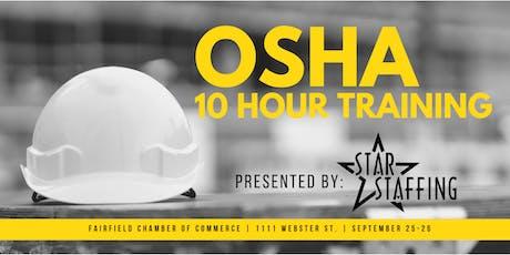 OSHA 10 Hour Training - Fairfield tickets