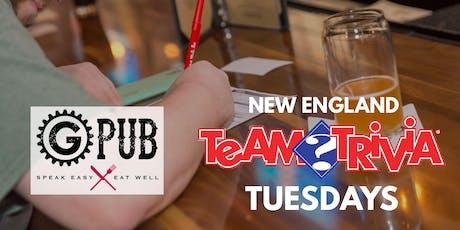 New England Team Trivia Tuesdays @ Providence GPub tickets