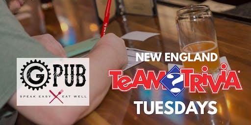 New England Team Trivia Tuesdays @ Providence GPub