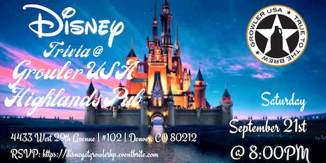 Disney Movie Trivia at Growler USA Highlands Pub tickets