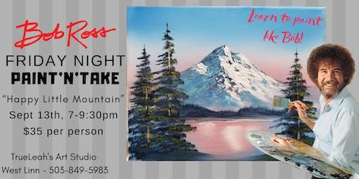 Bob Ross Paint'N'Take Night - Happy Little Mountain