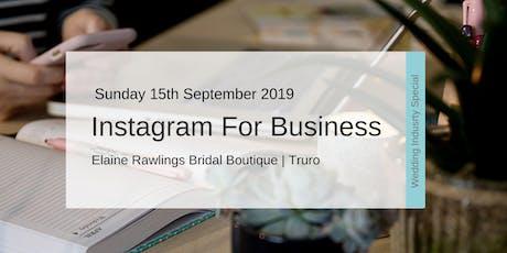 Instagram For Business Workshop (Wedding Industry Special) tickets