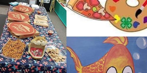 Kids Night Drop Off - Pizza & Goldie Canvas