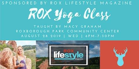 ROX Community Yoga Class tickets