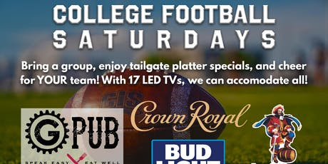 College Football Saturdays @ Providence GPub tickets