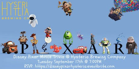 Disney Pixar Movie Trivia at Hysteria Brewing Company tickets