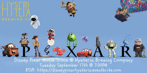 Disney Pixar Movie Trivia at Hysteria Brewing Company