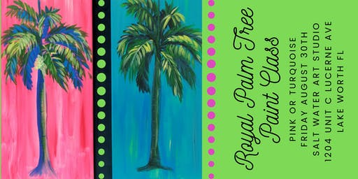 Royal Palm Tree { in pink or turquoise } Lily style