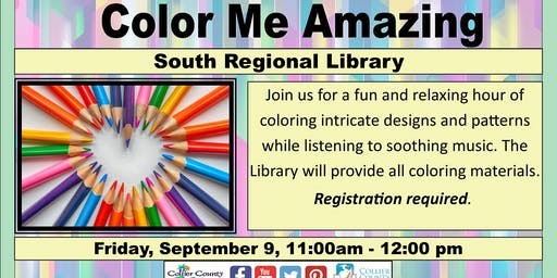 Color Me Amazing at South Regional Library