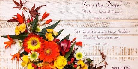 Community Prayer Breakfast - Surrey Interfaith Council tickets