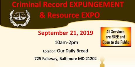 Criminal Record Expungement & Resource Expo tickets