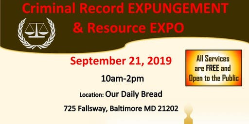 Criminal Record Expungement & Resource Expo