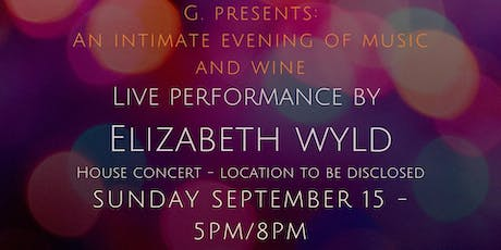 An Intimate Evening of Music - Elizabeth Wyld tickets