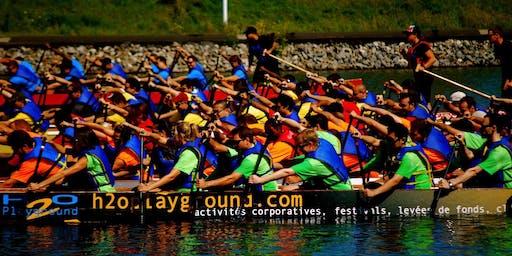 Levée de fonds en bateau dragon pour l'équipe Tadagaz du 24h Tremblant