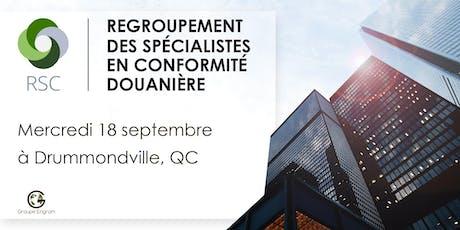 Regroupement des Spécialistes en Conformité de Drummondville  billets