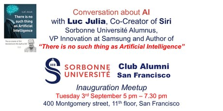 Conversation about AI with Luc Julia, creator of Siri - Sorbonne Alumni SF tickets
