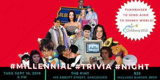 #Millennial #Trivia #Night for Children's Wish