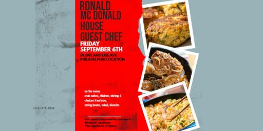 NEED VOLUNTEERS FOR THE RONALD MC DONALD HOUSE GUEST CHEF PROGRAM