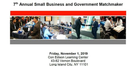 7th Annual Government & Business Matchmaker (2019) tickets