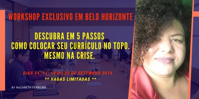 [BELO HORIZONTE / MG] WORKSHOP CURRÍCULO DE ALTA PERFORMANCE 1.0 - SET 2019