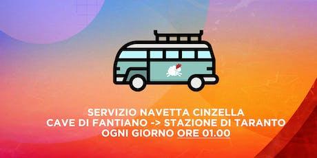Transfer Navetta Cinzella Ore 01.00 | Cave di Fant biglietti