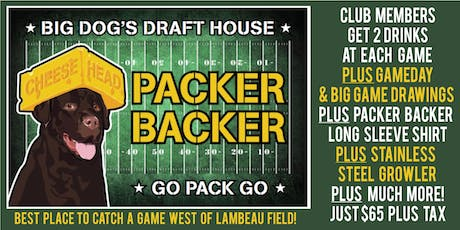 PACKER BACKER CLUB 2019-20 tickets