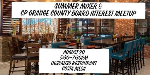 Summer Mixer & Board Interest