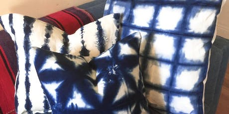 Shibori Indigo Tie Dye Pillow Workshop tickets