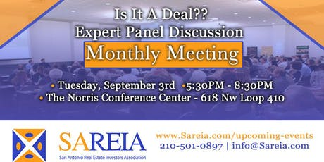 "Monthly Meeting - ""Is It a Deal?: Wholesaling in San Antonio"" tickets"