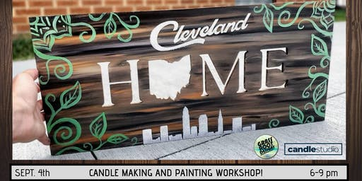 Painting + Candle Making at The Candle Studio!