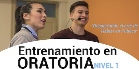 ENTRENAMIENTO EN ORATORIA - NIVEL 1 - CORRIENTES CAPITAL - 14/09 entradas