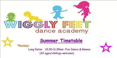 Wiggly feet summer class tickets