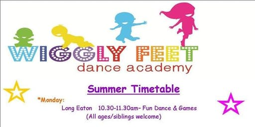 Wiggly feet summer class