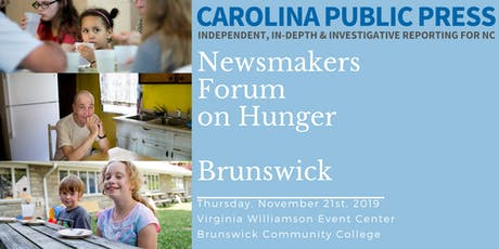 Newsmakers Forum on Hunger: Brunswick tickets