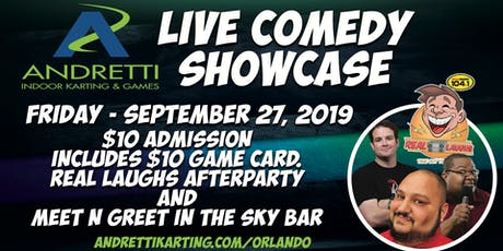 Real Laughs Comedy Show @ Andretti Indoor Karting & Games tickets