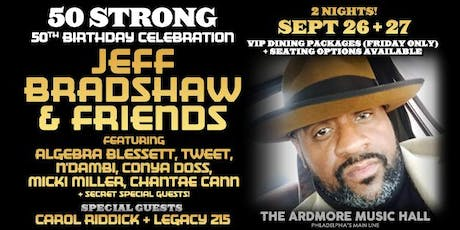 Jeff Bradshaw & Friends ft. Algebra Blessett, Conya Doss, + guests TBA!